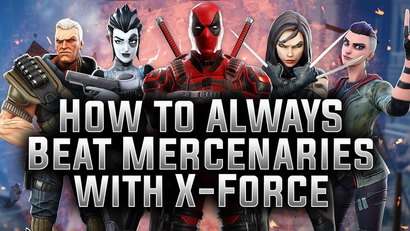 How to ALWAYS Beat Mercenaries with X-Force - MARVEL Strike Force - MSF