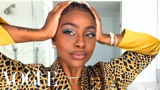 Justine Skye's Guide to Green Eyeshadow & Her True Beauty Secret   Beauty Secrets   Vogue