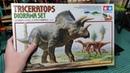 ДОИСТОРИЧЕСКИЙ ОБЗОР. НАБОР ДЛЯ ПОСТРОЙКИ ДИОРАМЫ С ДИНОЗАВРАМИ. Tamiya Triceratops diorama set 1/35
