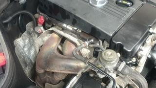 Где номер двигателя 1.8л Mercedes C Class W203 CLC180 C180
