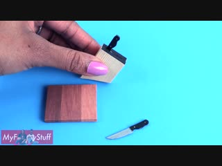 DIY - How to Make- Doll Kitchen Accessories - Hot Plate - Knives - Pots  more