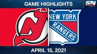 NHL Game Highlights | Devils vs. Rangers - Apr. 15, 2021