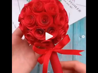 Цветы из бумаги. Прекрасная идея для подарка, попробуй с детками!