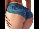 Sexy lingerie YOFIT Women Yoga Shorts Ruched Butt Sport Gym Push up Running Elastic High Waist Short