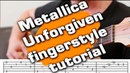 Metallica unforgiven acoustic guitar tutorial tabs fingerstyle guitarclub4you