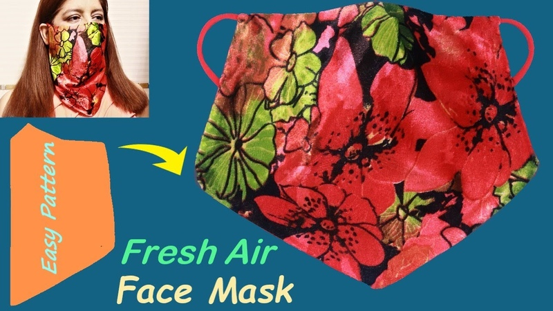 How to Make Fresh Air Face Mask at Home Easy Pattern DIY Fabric Face Mask Tutorial 79