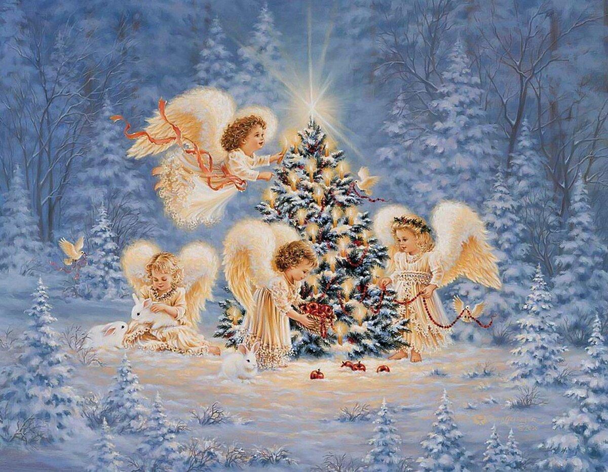 Юбиляру, к открытке к рождеству