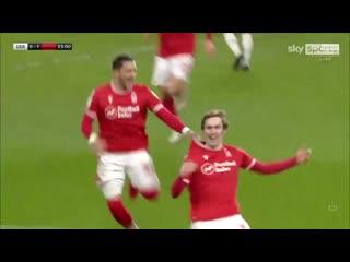 James Garner scores his first goal for Nottingham Forest