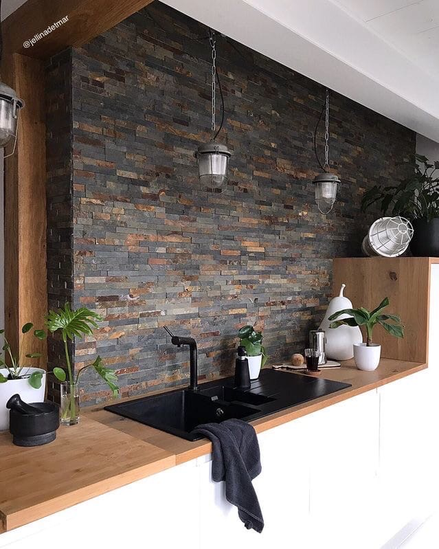 Оформление рабочей зоны на кухне: фартук. Как выбрать материал., изображение №6