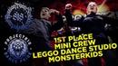 LEGGO DANCE STUDIO   MONSTERKIDS   1ST PLACE ADULTS MINI CREW   Project818