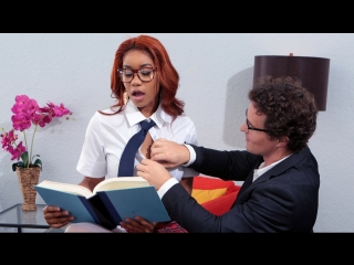 Jenna J Foxx - Banging The Bookworm [Brazzers. HD1080, Big Ass, Big Black Cock, Big Tits, Ebony, Hairy, Stockings, Uniform]