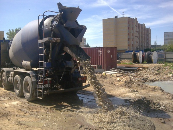 бетон в миксерах купить в спб