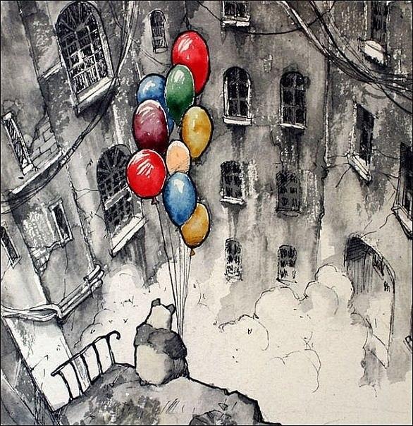 грустные картинки с шариками