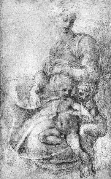 michelangelo drawing madonna and child 1525 - 581×939