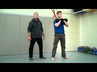 Steve Maxwell: Double Kettlebell Front Squat steve maxwell: double kettlebell front squat