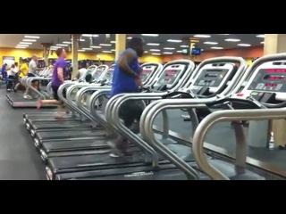 Dance on a treadmill | Танец на беговой дорожке