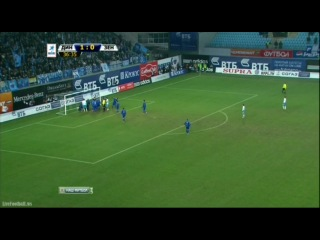 Динамо Зенит 1-0  HD Фаны Зенита бросили в лицо Шунину горящую петарду