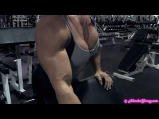 Aleesha young biceps