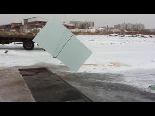 добыча льда для ледового городка 11 12 2014