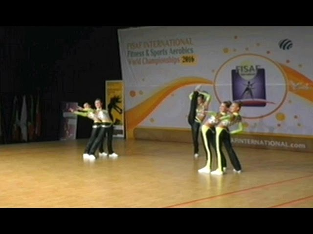FISAF Int. World Fitness HHU Championships 2016. Final junior Aerobic Petite: Kanikuly (RUS)