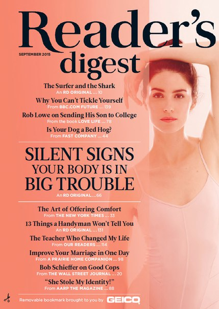 Reader's Digest - September 2015  USA