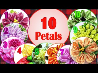 Kanzashi petals, 10 petals, kanzashi tutorial, how to make