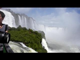 Радуга на водопаде Фоз Игуассу