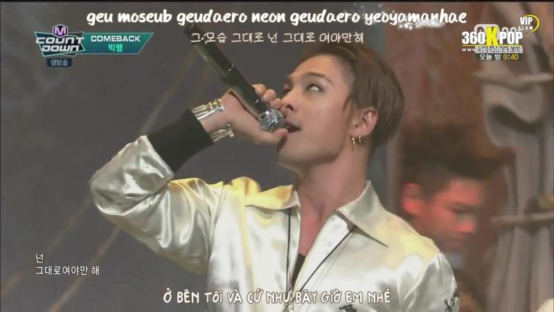 Vietsub Kara Perf BIGBANG BAE BAE M Countdown VIPTeam 360Kpop