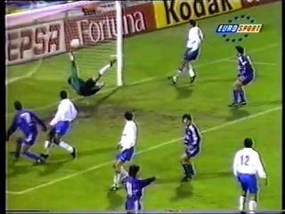 """""""Сарагоса"""" 3-2 """"Реал Мадрид"""" 9 тур 1994-1995. Дебют Рауля за """"Реал"""""""