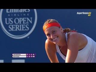 Lucie Safarova vs Petra Kvitova  FINAL New Haven Cup 2015 Part-3 [FULL HD]