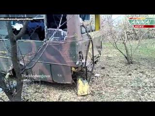 Позиции ВСУ после ночного обстрела   Ukrainian position after an overnight fire