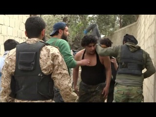 2015-04-17 Capture of ISIS fighters in Barzeh. Assault on an ISIS-Headquarter in Qaboun (Damascus)