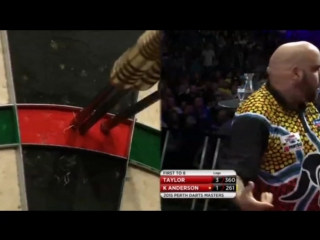 Phil Taylor vs Kyle Anderson (Perth Darts Masters 2015 / Quarter Final)