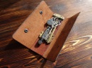 Работа с кожей. Ключница. Leather case for key.
