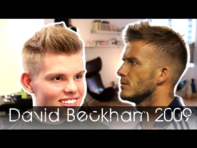 David Beckham 2009 Re invention How To Use By Vilain Silver Fox Men's Hair Tutorial