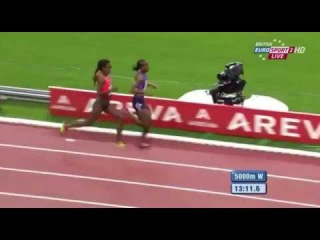 Ethiopia's Genzebe Dibaba winning 5000m (Women) IAAF Diamond League, Paris 2015