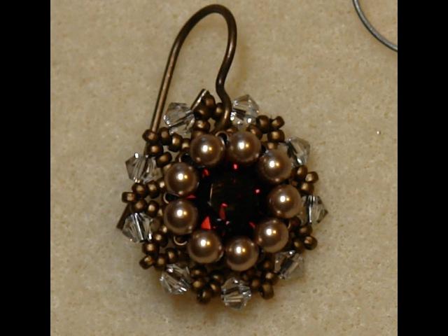 Sidonia's handmade jewelry Vintage Swarovski beaded earrings