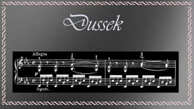 Dussek - Sonatina in E-Flat Major Op. 20 No. 6, for Piano (Complete)