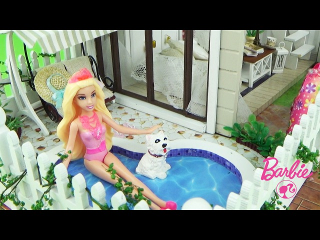 Мультик Барби в Париже Волшебный сон в домике с собачкой Истории с куклами Barbie doll house