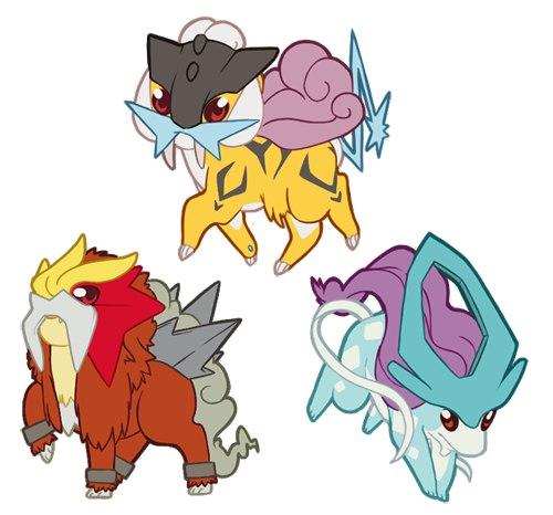 pokemon legendary dogs - 500×466