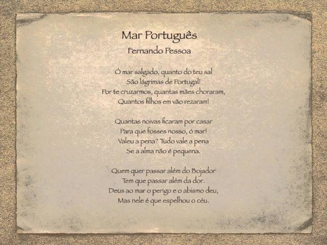 European Portuguese Lessons - Poema Mar Português - Fernando Pessoa