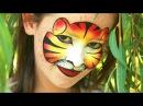 Tiger schminken für Fasching oder Karneval - Tiger Kinderschminken Anleitung