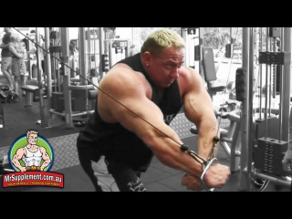 Marcus Ruhl's Cable Cross Over   Chest Exercise #3