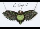 Forest Owl Polymer Clay Statement Fantasy Necklace | Premo Art/Sculpture | DIY Pendant | Velvetorium