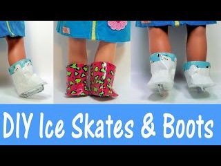How to make ice skates and boots with duct tape for 18 inch dolls