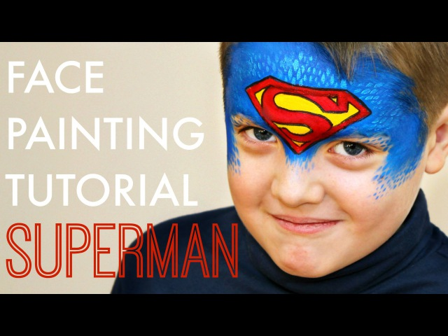 Superman — Fast and Easy Face Painting Tutorial