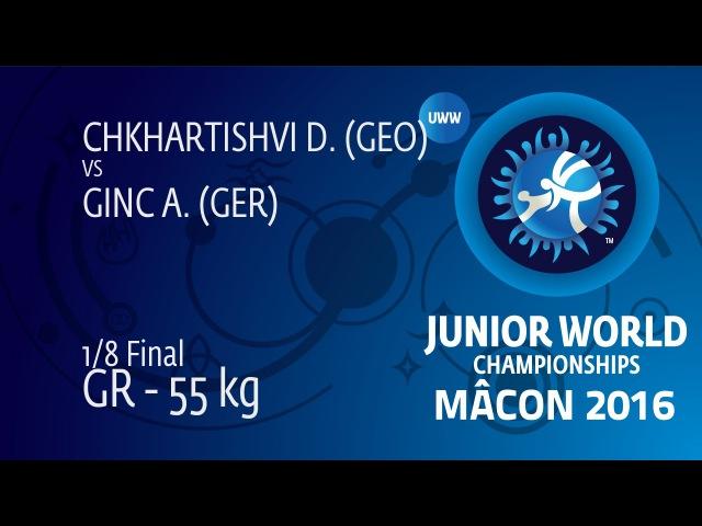 1 8 GR 55 kg: D. CHKHARTISHVI GEO df. A. GINC GER 8 2