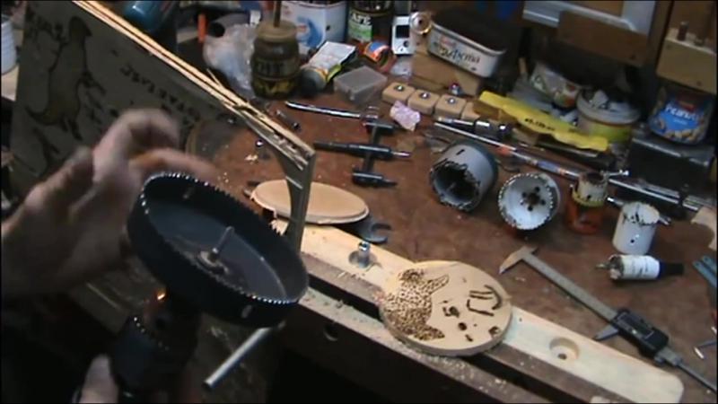 Самоделки Как вырезать круг в фанере Центробор Корончатые сверла