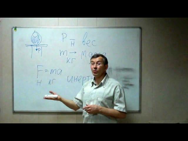 Физика инертность сила вес и масса Невесомость Почему массу измеряют на весах Понятно