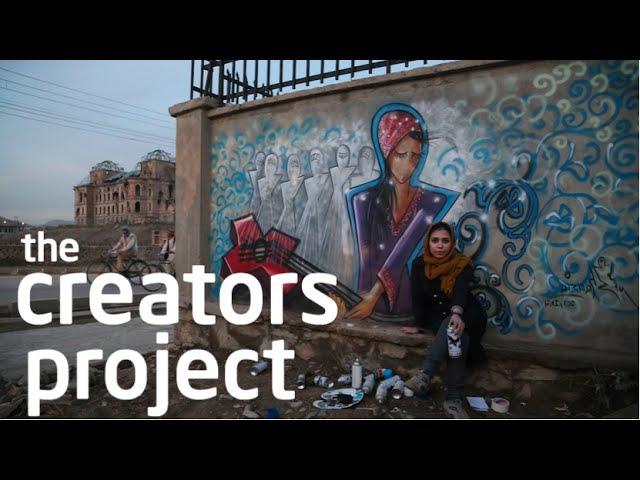 Kabul's Female Graffiti Master The Creators Project Meets Shamsia Hassani